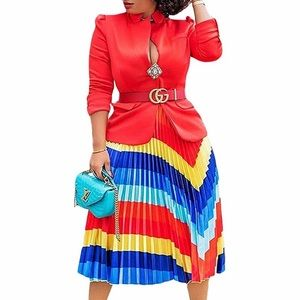 NWOT Beautiful colored pleated skirt